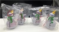 4-Jack in The Box Snowman Ornament
