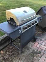 bbq grill, no propane tank