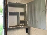 vintage wood medicine cabinet