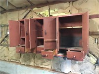wood cabinet, you remove, bring help 72x14x37