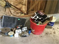 headlamps, grill, wire, misc car parts