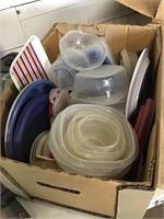 2 boxes of plasticware