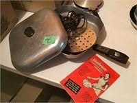 sunbeam electric skillet, flat pan