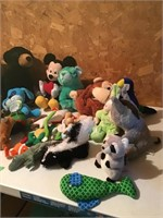 lg lot beanies, stuffed animals