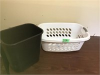 trash can, laundry basket