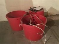 3 lg tubs