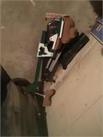 golf clubs, shooting tripod