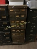 BROWN CARD FILE CABINET