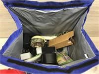 COOLER BAG WITH BALL CAP/ BOOKLIGHT/ ALARM CLOCK A