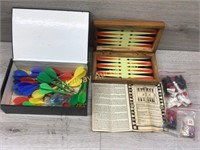 CHECKER GAME/ BOX OF DARTS