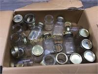 BOX OF CANNING JARS