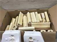 BOX LOT OF KILN STANDS/ CERAMIC MOLD