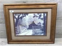 FRAMED BARN AND GATE PICTURE