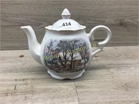 AVON PITCHER WITH FARM PICTURE ON SIDE