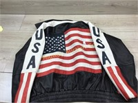 HIND LEATHER SIZE M AMERICAN FLAG JACKET