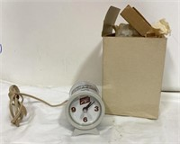 Vintage Schlitz can clock with original box,