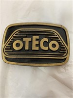 Oteco, S, GOLD, and chrome belt buckle