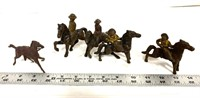Vintage die cast toys, mountie, bandit, and horse