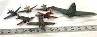 Vintage die cast toys, planes