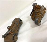 Vintage die case toys, army men