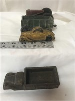 Plastic toys, including cars, tractors and more