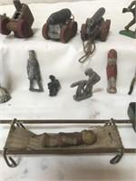Vintage die cast army people