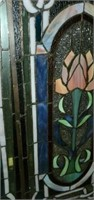Stunning 3 Pc Stained Glass Fireplace Screen Cover