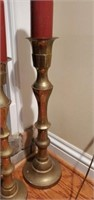 Pair of Tall Brass Candle Holders Decor
