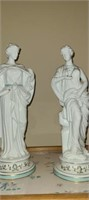 Pair of 2 porcelain figurines