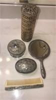 Vintage Silver Plated Bathroom set