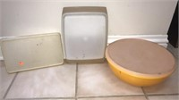 Estate lot of 3 vintage tupperware