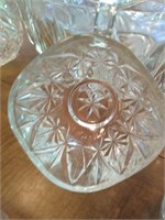 Stunning crystal Punch bowl with glasses