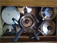 Lot of cooking pans