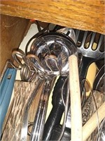Lot of kitchen utensils