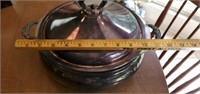Silverplated Latge Serving Dish with Pyrex Insert