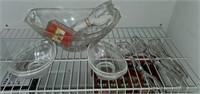 Clear Plastic Serving Set