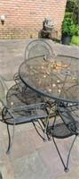 Set of 5 outdoor metal patio table set