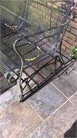 Metal outdoor patio glider loveseat