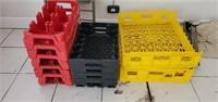 Lot of 11 Coca-Cola & Merit Bakery Crates
