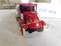 Carnation Tanker Locking Coin Bank Die Cast Made