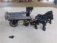 Texaco Horse and Tanker - Die Cast Bank - 1/25 -
