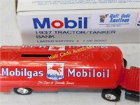 Mobil - 1937 Tractor Tanker - Die Cast Bank - By