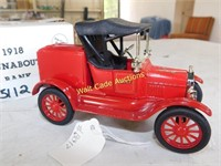Ford 1921 Runabout - Fire Chief - Die Cast Bank -