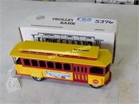 Trolley Car - Die Cast Bank - 1/43 - By ERTL -