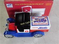 Pepsi 1916 Studebaker Pickup Lockable Coin Bank