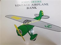 John Deere Vintage Air Plane Coin Bank Made By