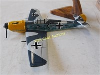 Wooden Hand Carved Planes with Stands - Very Nice
