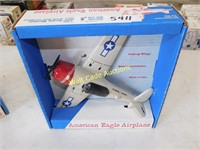 American Eagle Airplane - Foldable Wings RARE -