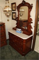 Antique Marble-Topped Dresser