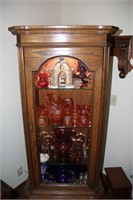 Lighted Curio Cabinet  (Contents Not Included)